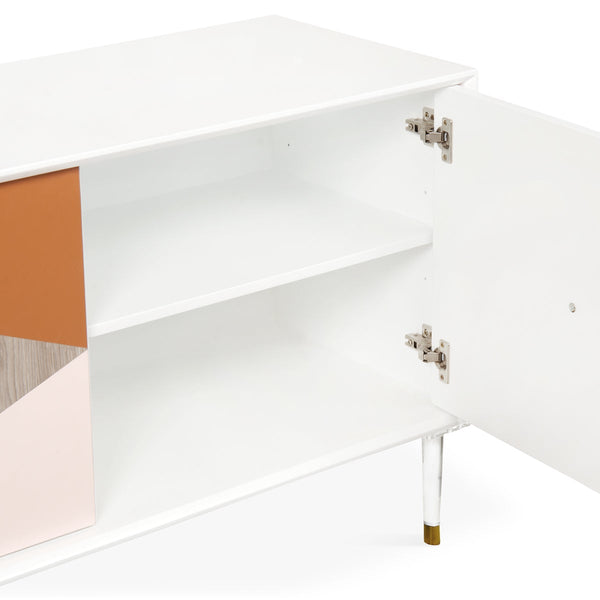 Color Block 3 Door Credenza - ModShop1.com