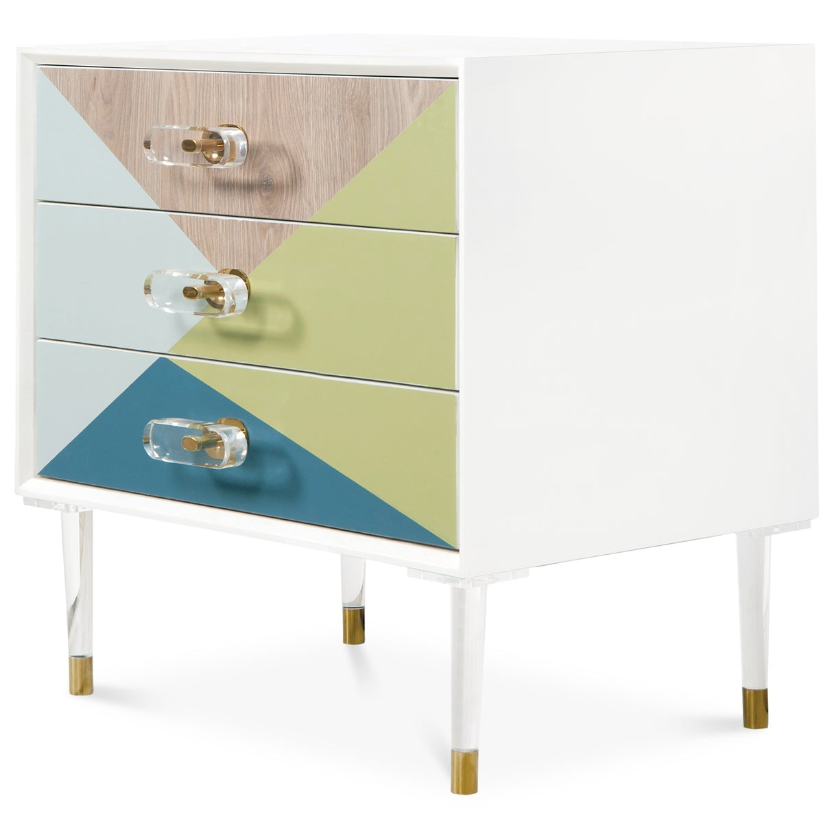 Color Block Side Table - ModShop1.com
