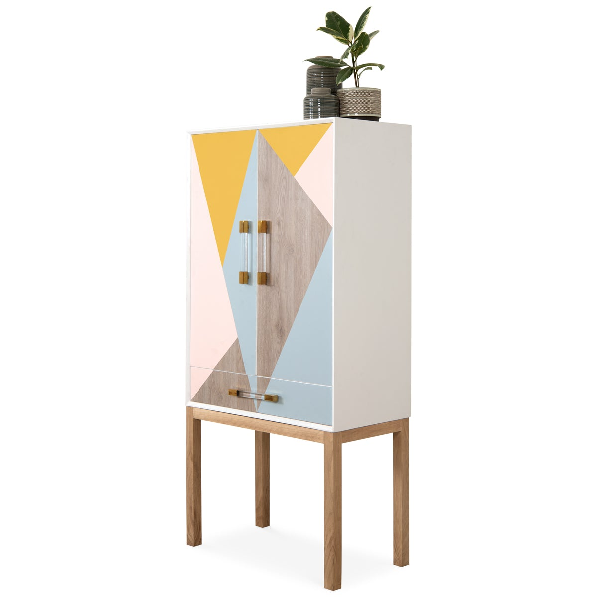 Color Block Bar Cabinet - ModShop1.com