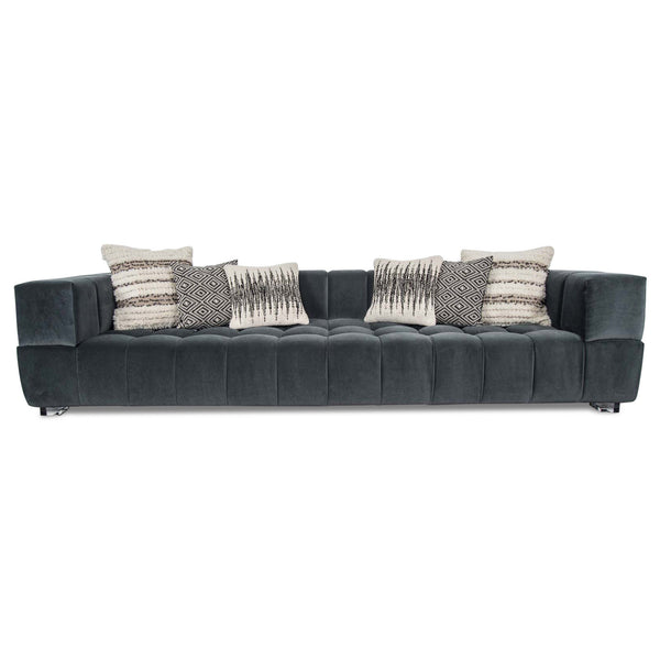 Continental Sofa in Charcoal Velvet