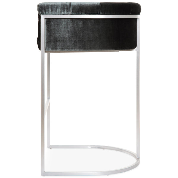 Corfu Bar and Counter Stool in Brushed Nickel - ModShop1.com