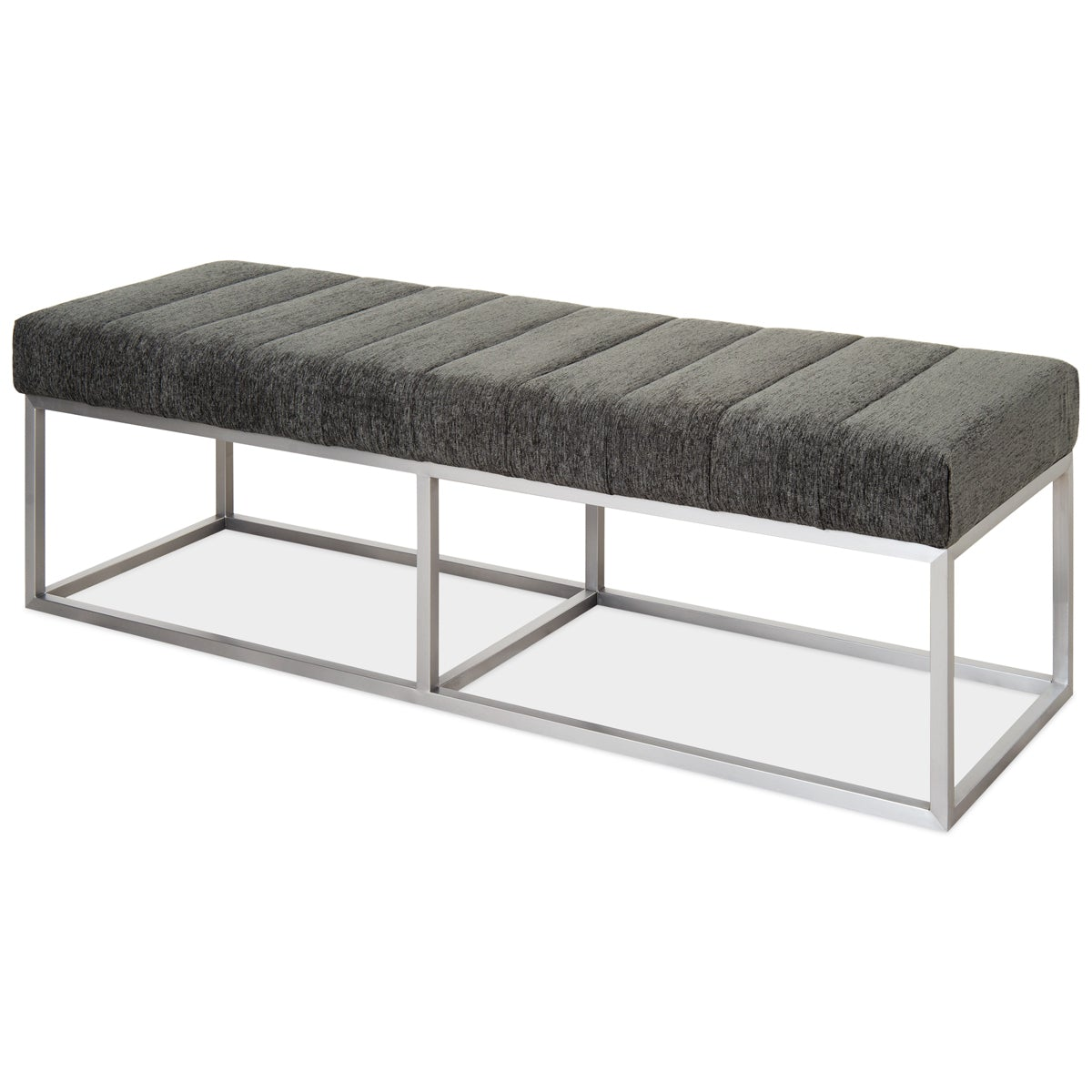 Corfu Bench in Brushed Nickel - ModShop1.com