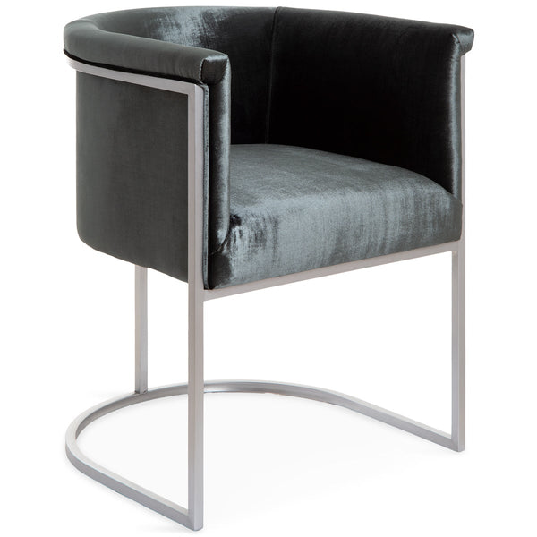 Corfu Dining Chair in Brushed Nickel - ModShop1.com
