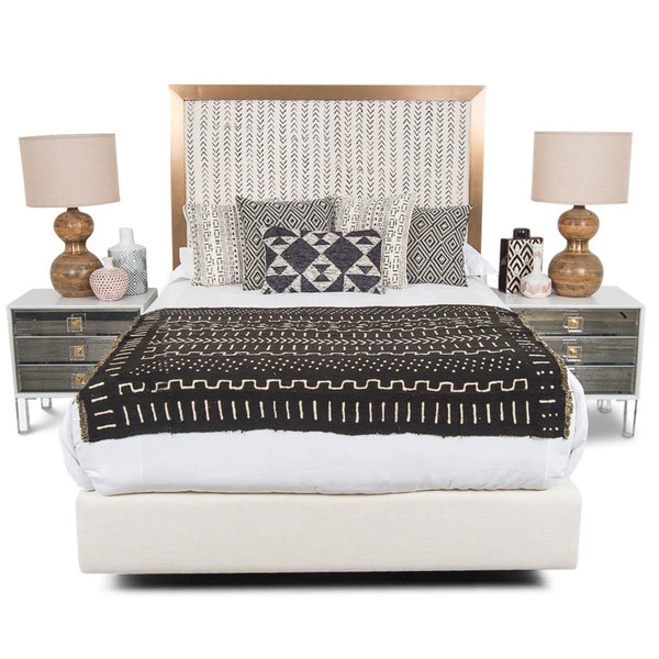 Ibiza Bed in Mud Cloth Ikat