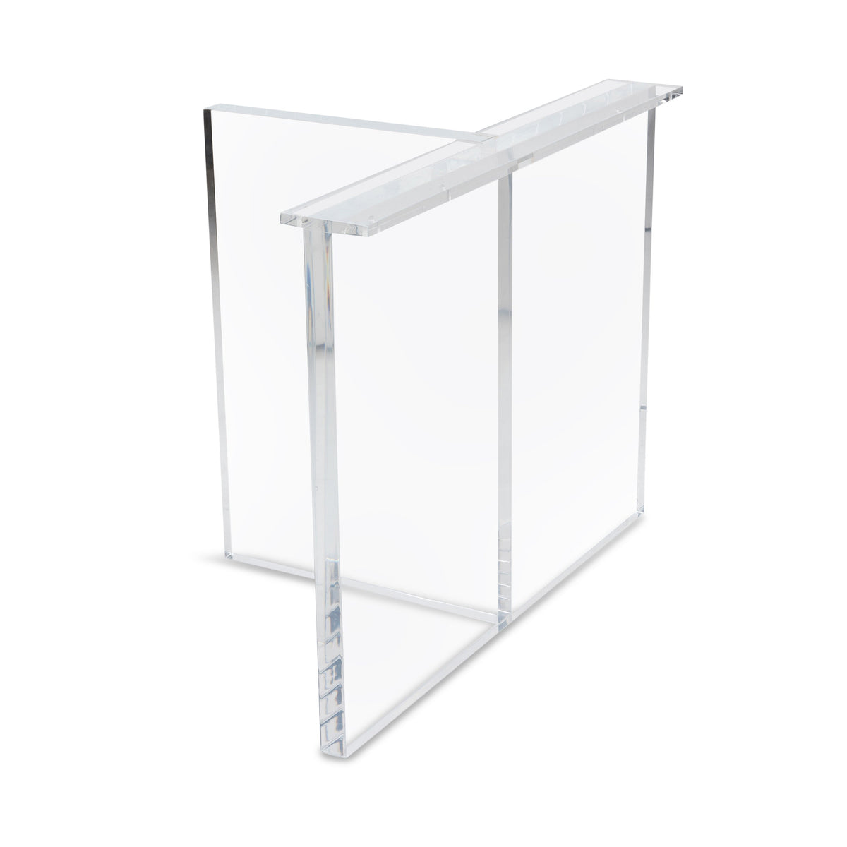 Lucite Criss Cross Base (Set of 2)