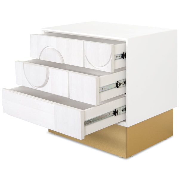 Delano 3 Drawer Side Table with Toe Kick - ModShop1.com
