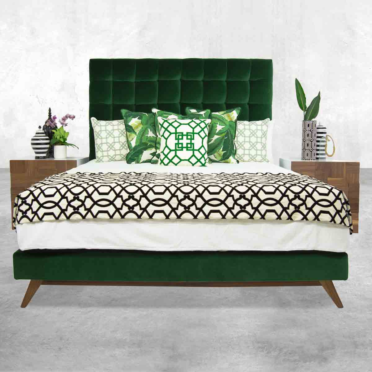 Delano Bed in Como Emerald Velvet