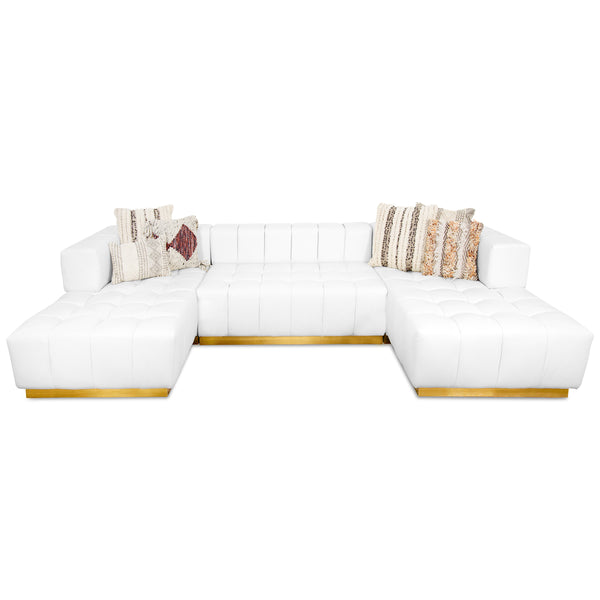 Delano Modular Sectional in Faux Leather
