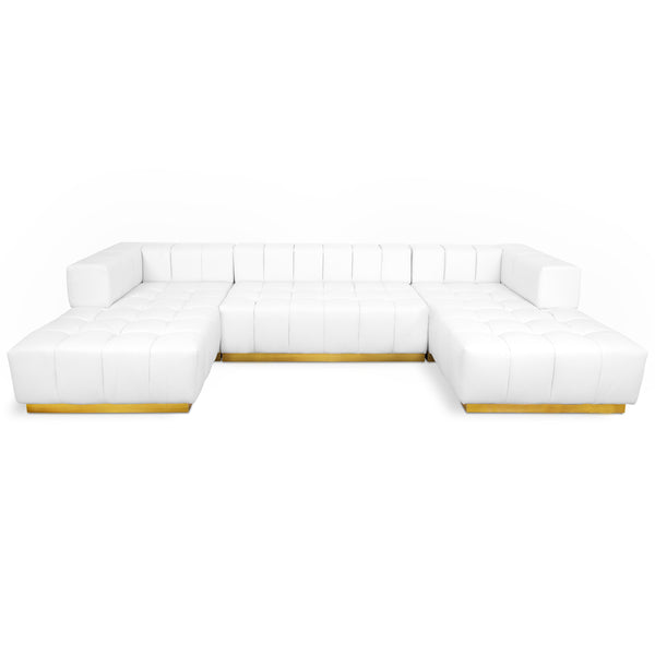 Delano Modular Sectional in Faux Leather - ModShop1.com