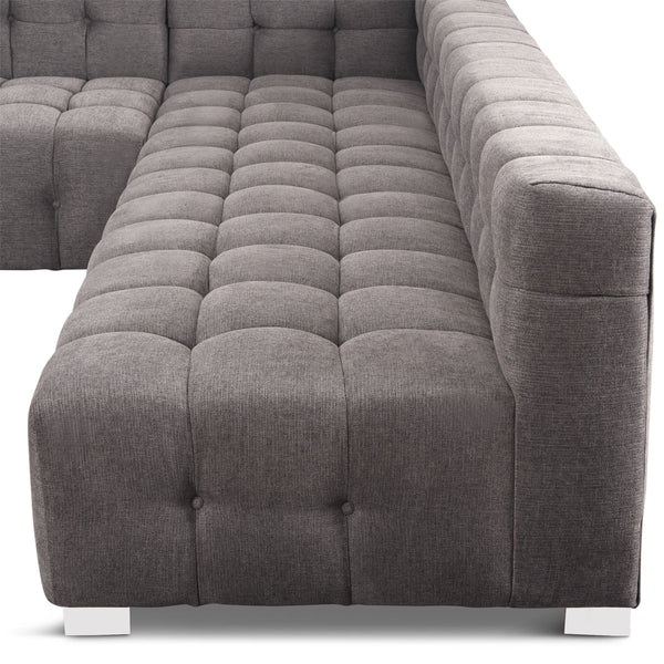 Delano Modular Sectional in Grey Textured Linen - ModShop1.com