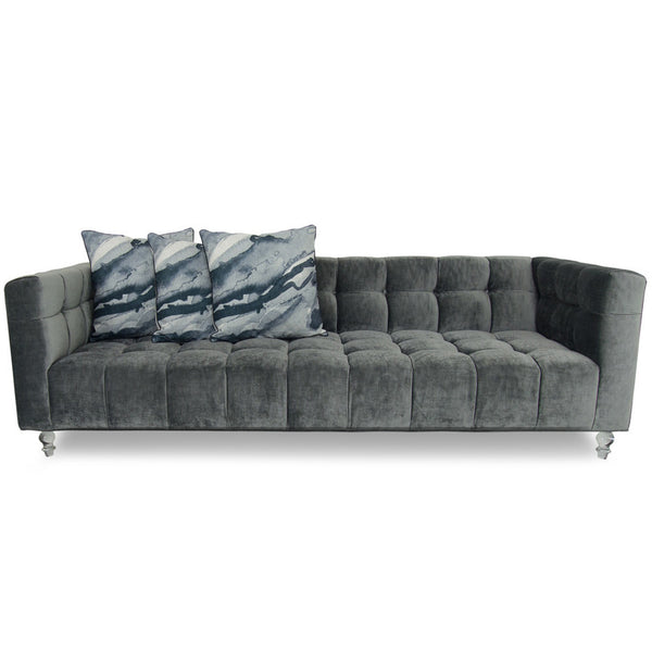 Delano Sofa in Brussels Charcoal Velvet