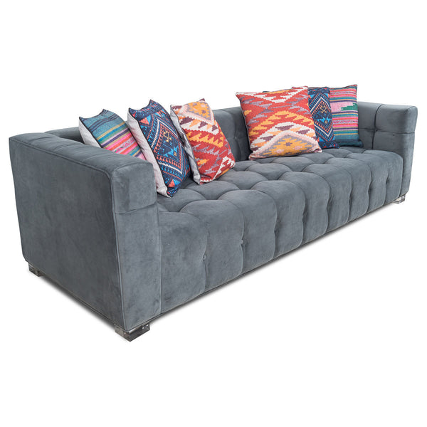 Delano Sofa in Charcoal Velvet