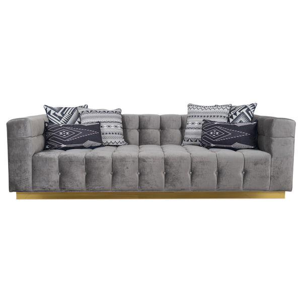 Deep Delano Sofa in Charcoal Velvet