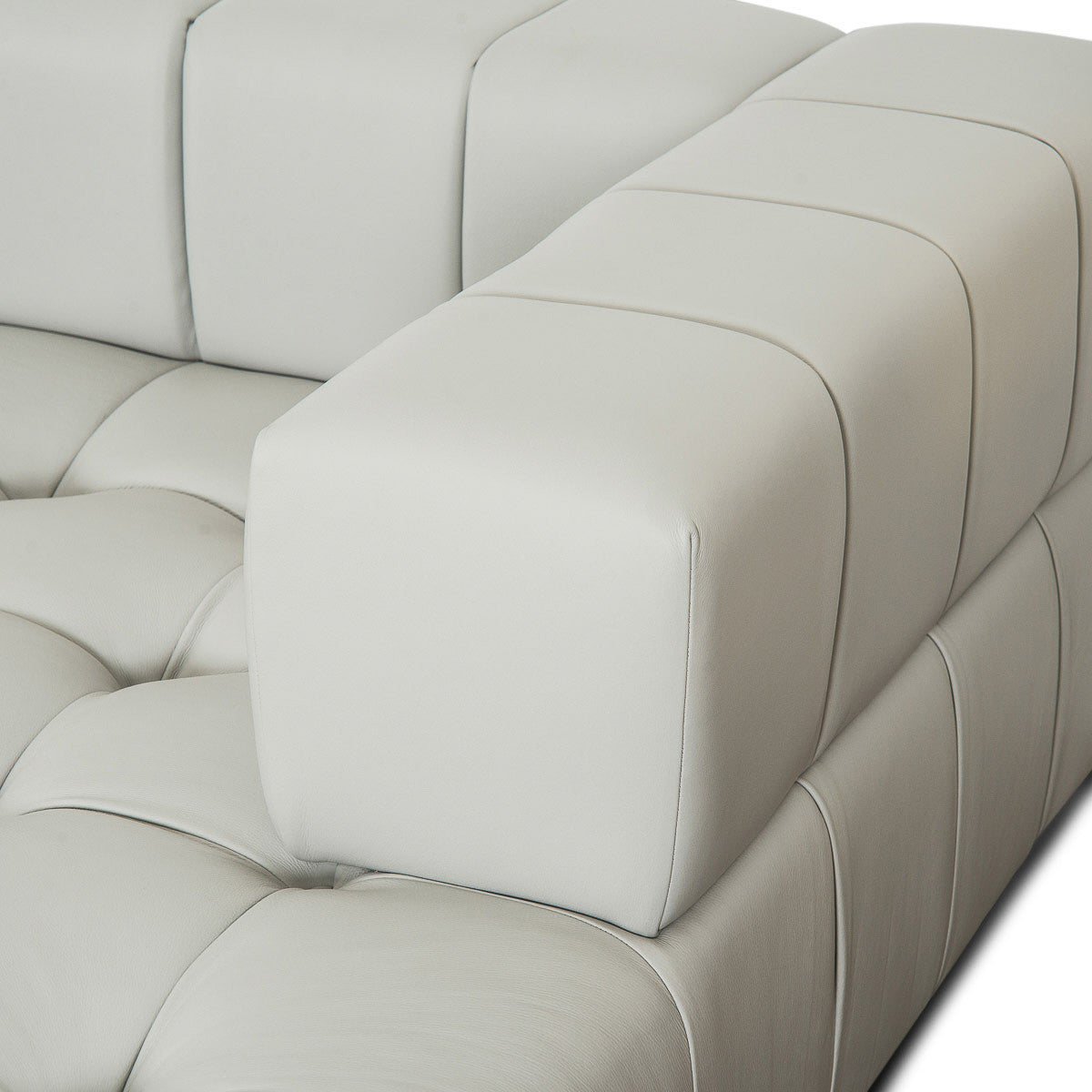 Delano Modular U-Sectional in Genuine Leather - ModShop1.com