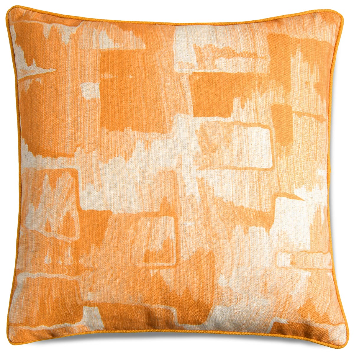 Denim Abstract Pillow in Mustard - ModShop1.com