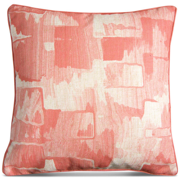 Denim Abstract Pillow in Blush