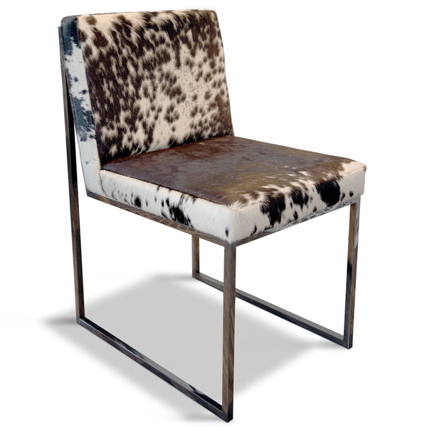 Custom Goldfinger Dining Chair in Cowhide - LISA PICARELLO