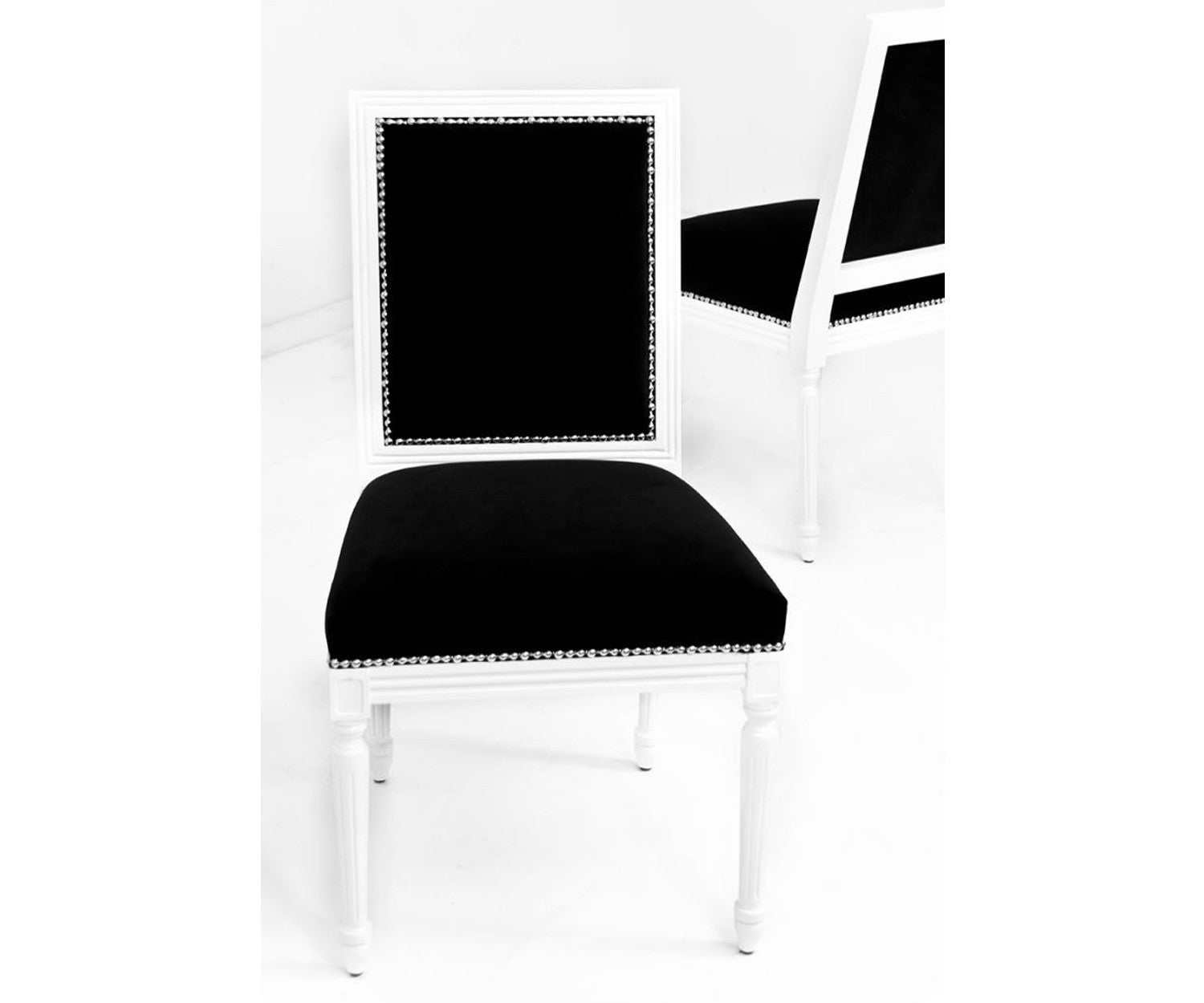 Bordeaux Dining Chair in Black Velvet - ModShop