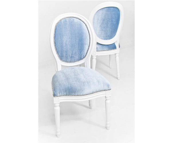 Louis Dining Chair in Trend Denim Velvet
