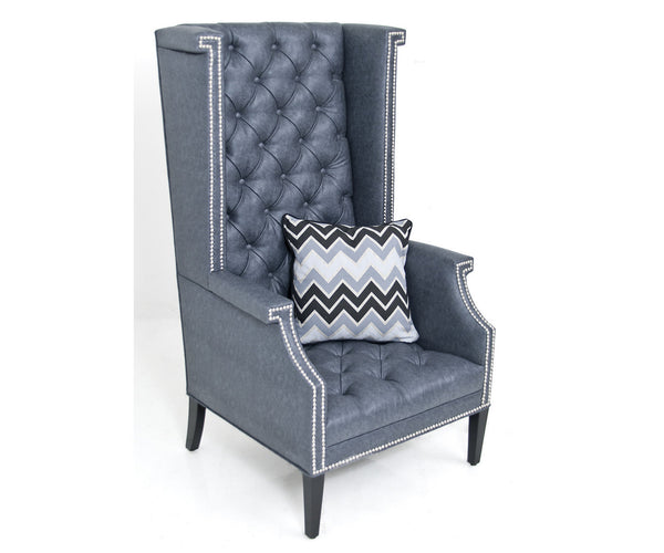 Sinatra Wing Chair in Mitchell Stingray Faux Leather