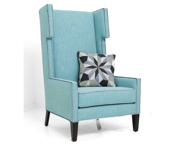 Tangier Wing Chair in Notion Thunderbird Linen