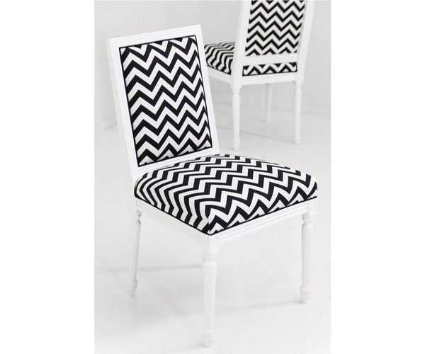Bordeaux Chevron Print Dining Chair