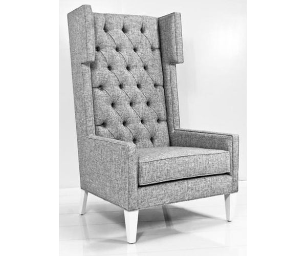 Tangier Wing Chair in Zuma Pumice Textured Linen