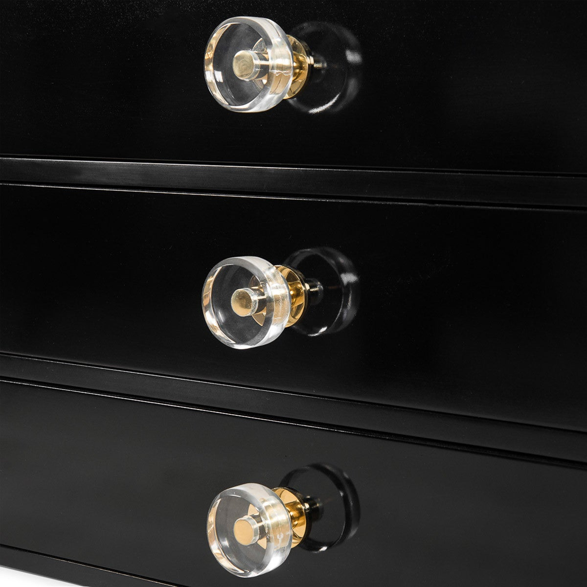 Glass Coffee Tables Durban: Modern Black Lacquer Side Table