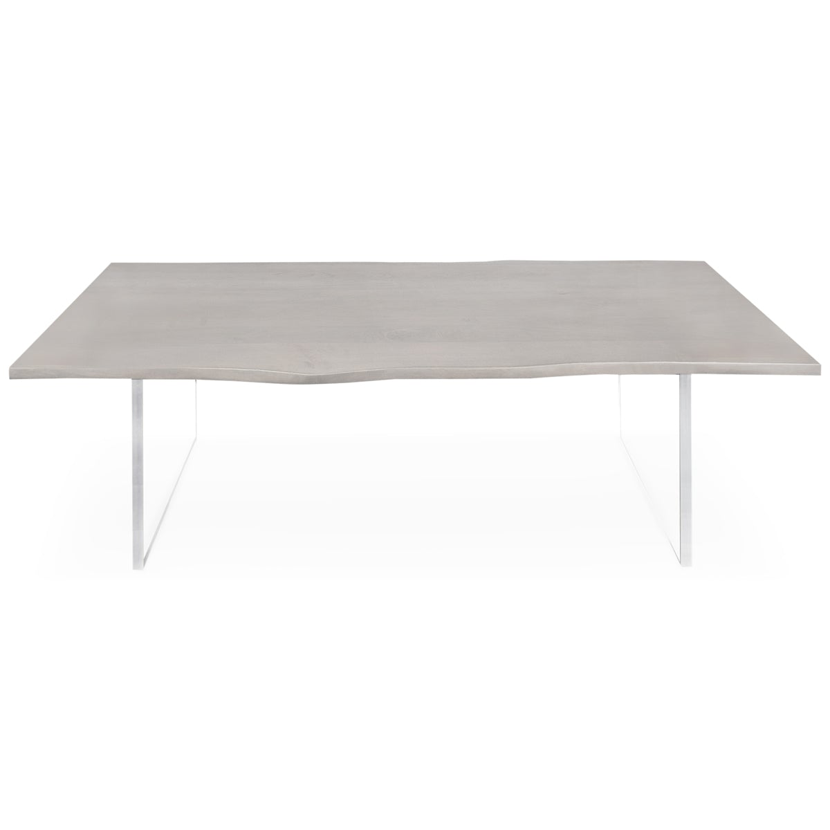 Eco Walnut Slab Dining Table in Grey Stain