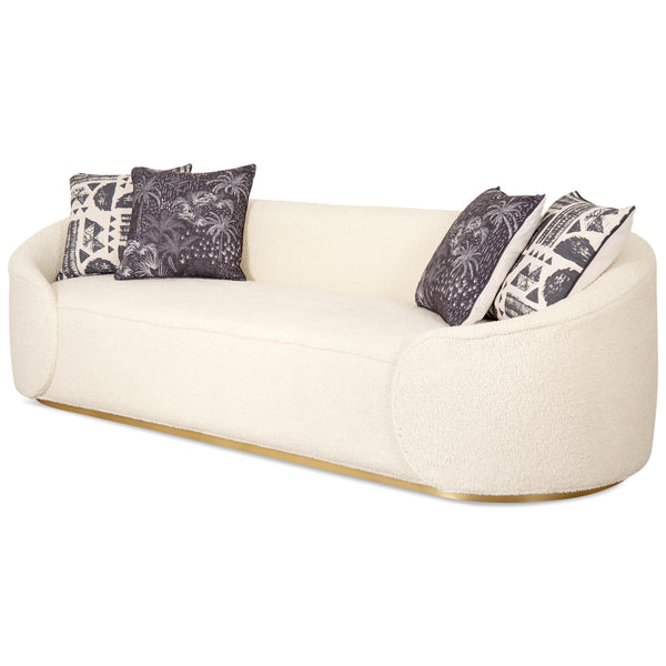 Eden Rock Sofa in Faux Sheepskin - ModShop1.com