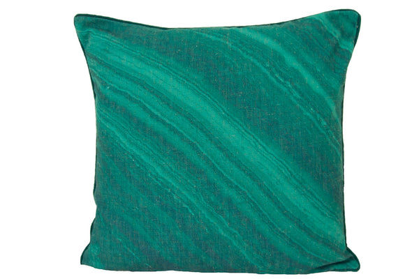 emerald linen pillow