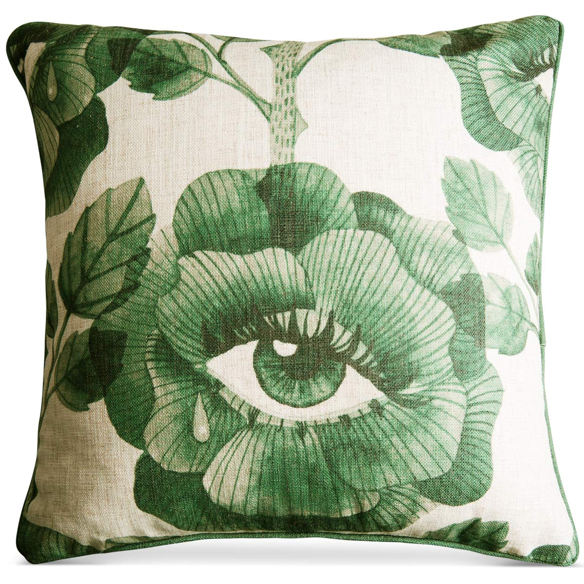 Floral Eyes Pillow in Hunter Green - ModShop1.com