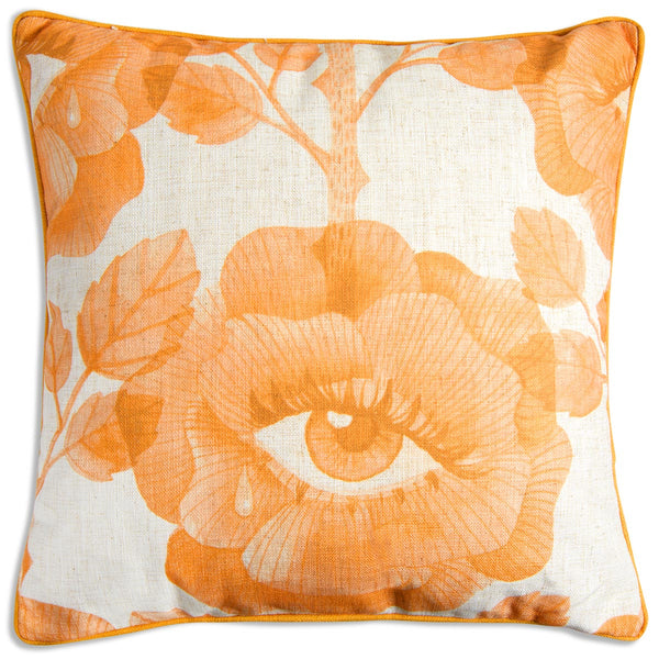 Floral Eyes Pillow in Mustard