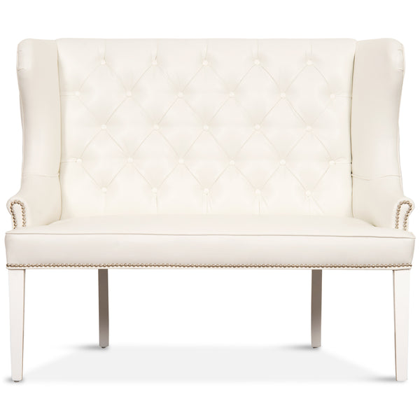 Florence Dining Loveseat in Faux Leather