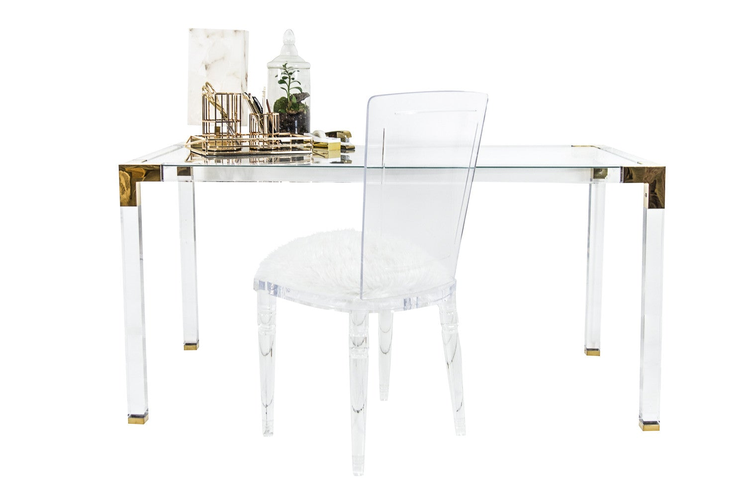 Trousdale Desk with Brass Finish - ModShop1.com