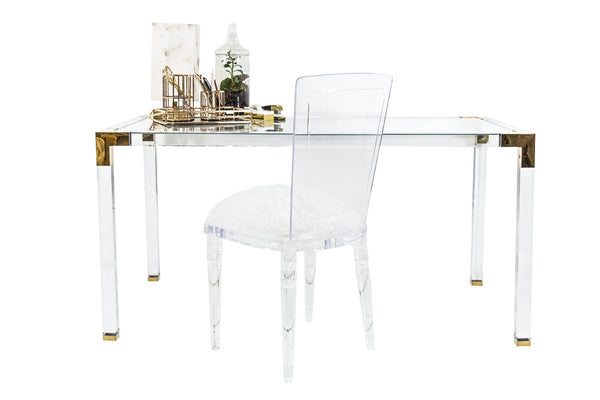 Trousdale Desk with Brass Finish