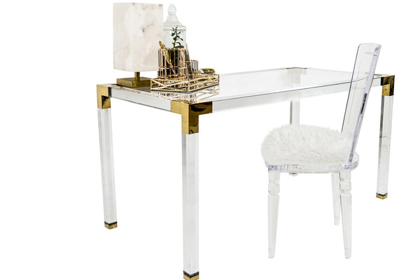 Trousdale Desk w/ Brass Finish
