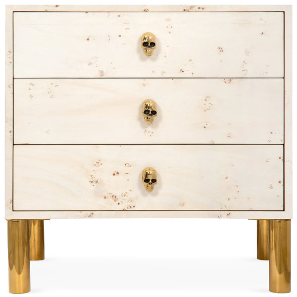 Goldfinger 3 Drawer Side Table - ModShop1.com