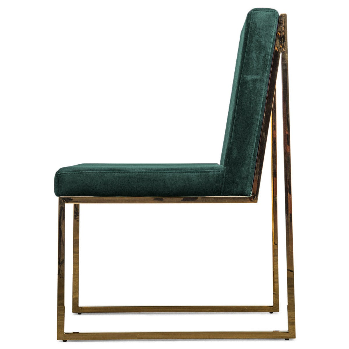 Velvet And Brass Dining Chair Modshop