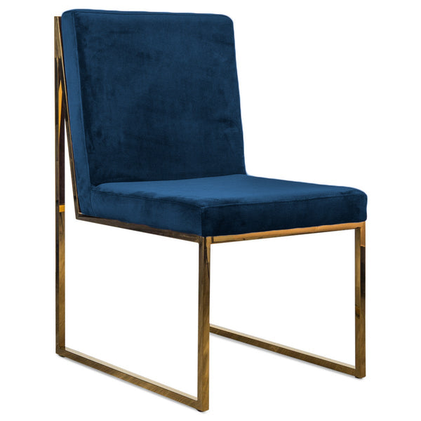 Goldfinger Dining Chair in Velvet - ModShop1.com