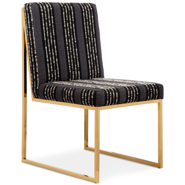 Goldfinger Dining Chair in Textured Woven Fabric