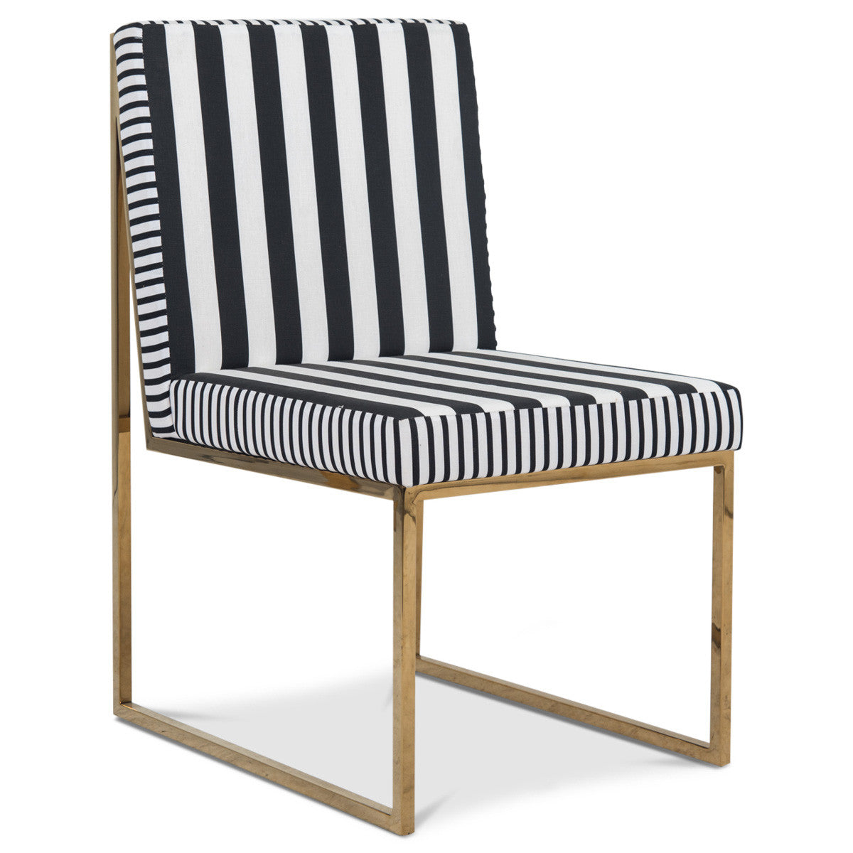 Goldfinger Dining Chair in Stripes - ModShop1.com