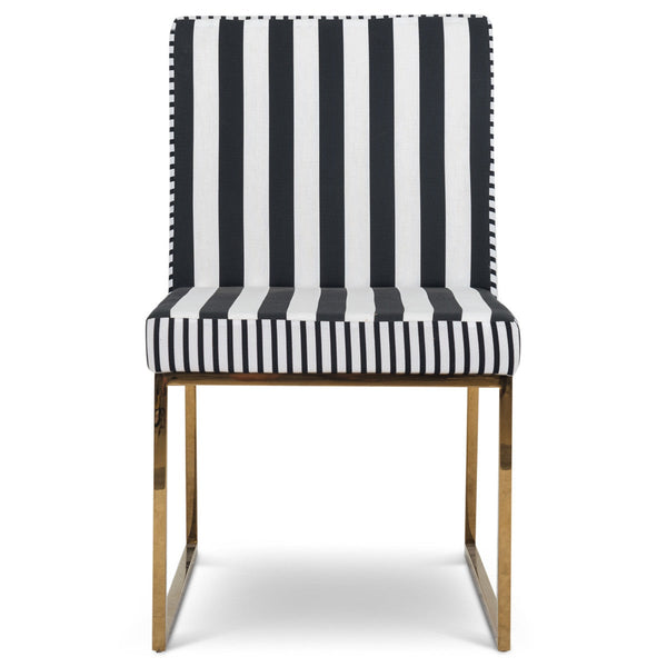 Goldfinger Dining Chair in Stripes