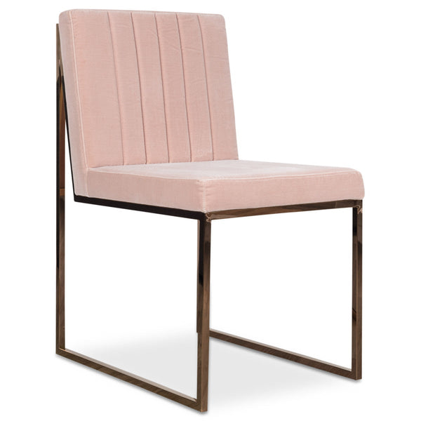 goldfinger dining chair with tufting