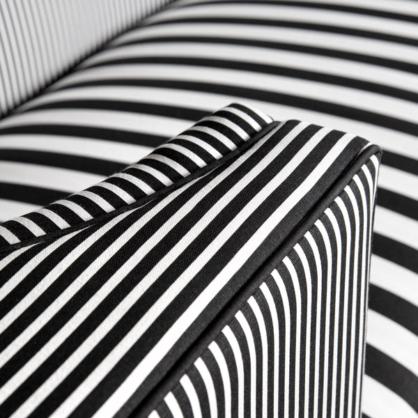Goldfinger Sofa in Black and White Stripes