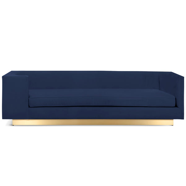 Goldfinger Sofa with Brushed Brass Toe Kick