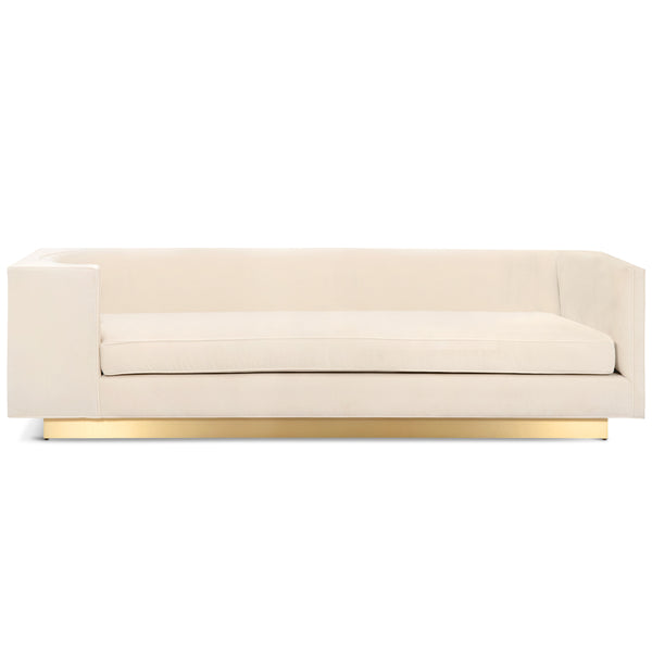 Goldfinger Sofa with Brushed Brass Toe Kick - ModShop1.com