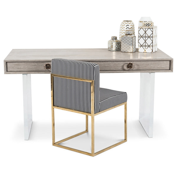 Hampton Desk with Lucite Plinth Legs