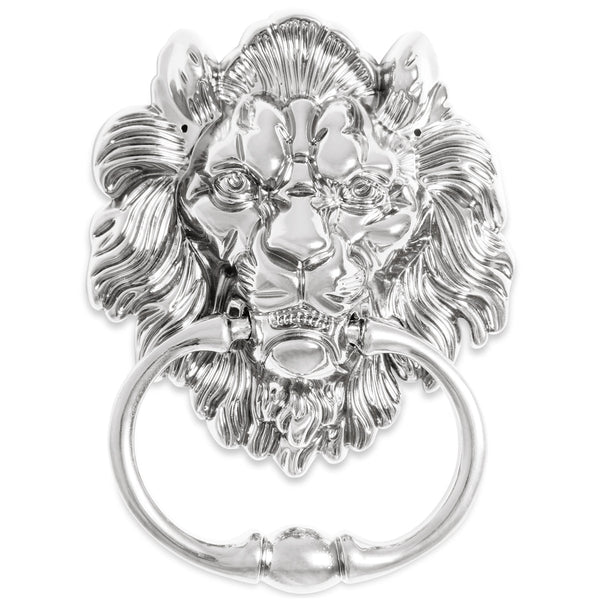 Lions Head Door Knocker, Chrome (Set of 2) - ModShop1.com