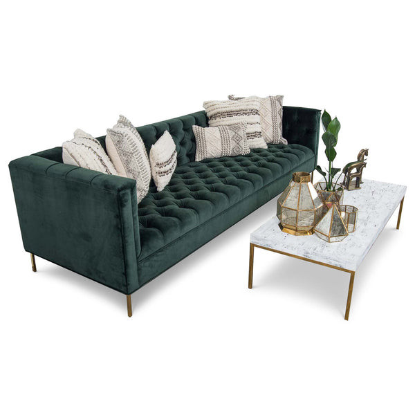 Hollywood Sofa in Hunter Velvet